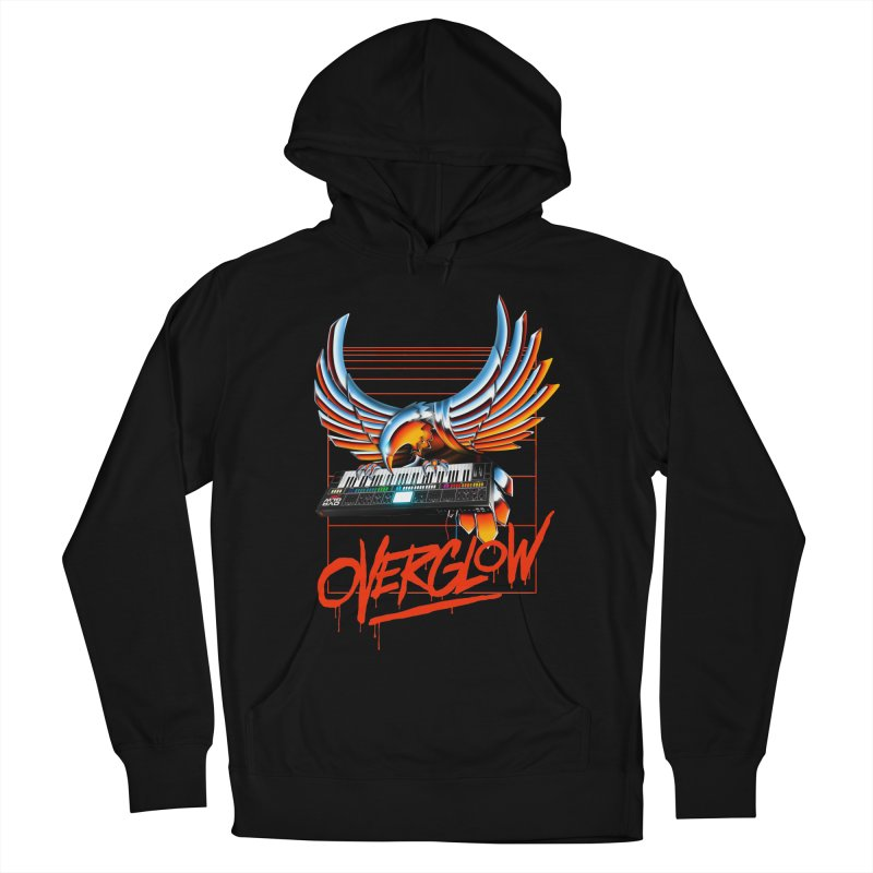 CHROME EAGLE Men's French Terry Pullover Hoody by OVERGLOW 80s shop
