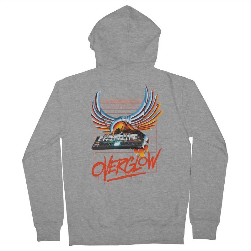 CHROME EAGLE Men's Zip-Up Hoody by OVERGLOW 80s shop