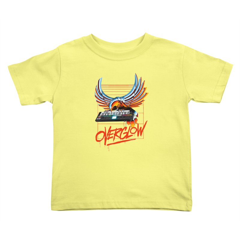 CHROME EAGLE Kids Toddler T-Shirt by OVERGLOW 80s shop