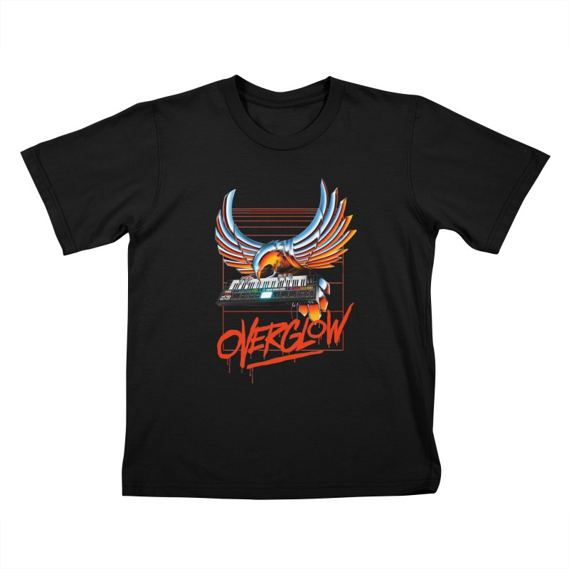 CHROME EAGLE Kids T-Shirt by OVERGLOW 80s shop