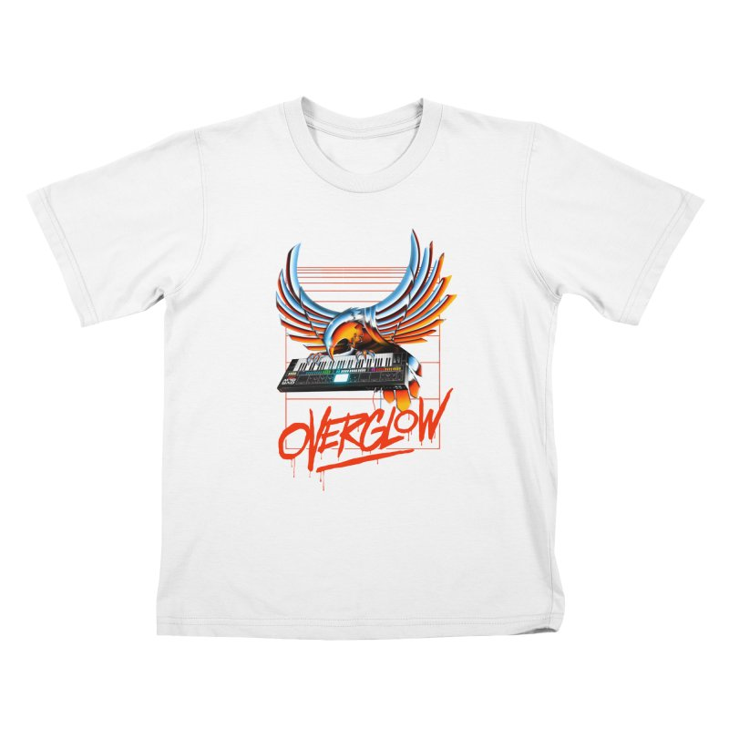 CHROME EAGLE Kids T-Shirt by OVERGLOW 80s shop