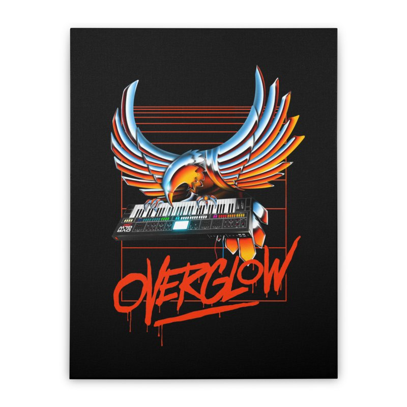 CHROME EAGLE Home Stretched Canvas by OVERGLOW 80s shop