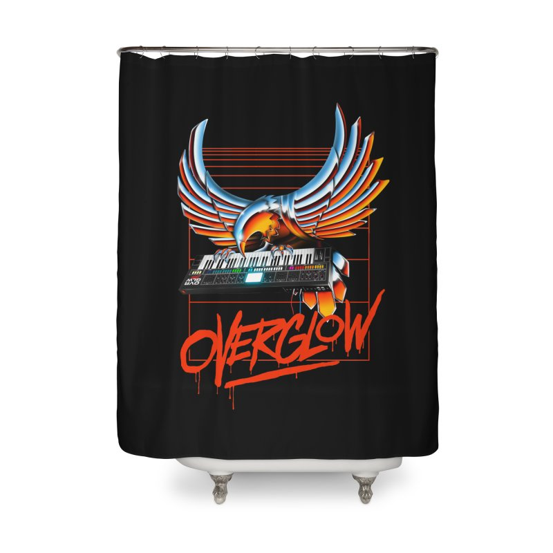 CHROME EAGLE Home Shower Curtain by OVERGLOW 80s shop