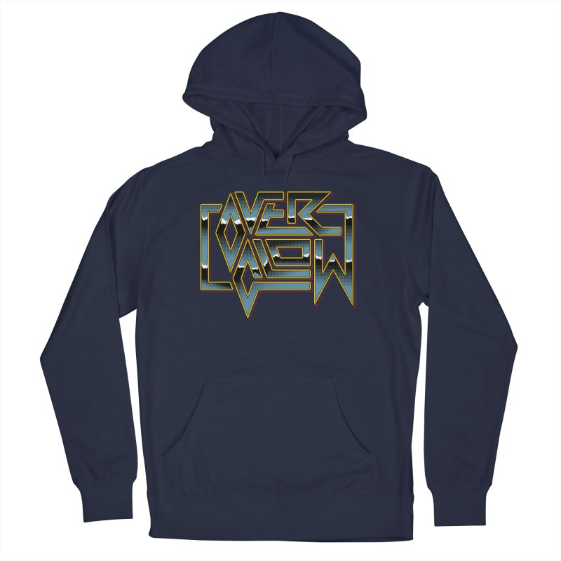 HEAVY METAL Men's French Terry Pullover Hoody by OVERGLOW 80s shop