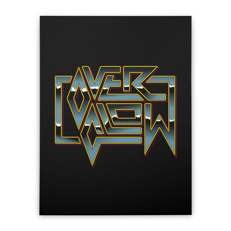 HEAVY METAL Home Stretched Canvas by OVERGLOW 80s shop