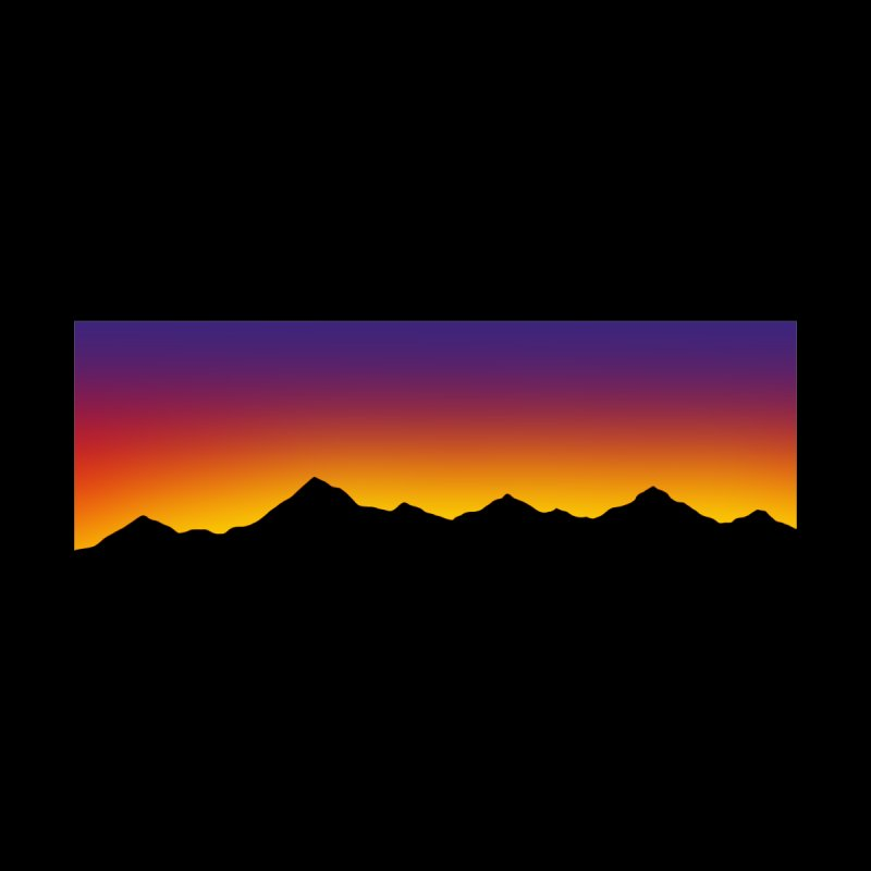 Gradient Sunset Overglow 80s Shop