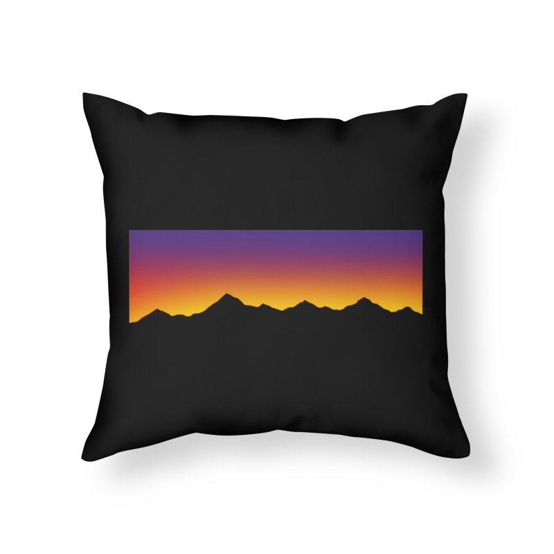 GRADIENT SUNSET Home Throw Pillow by OVERGLOW 80s shop
