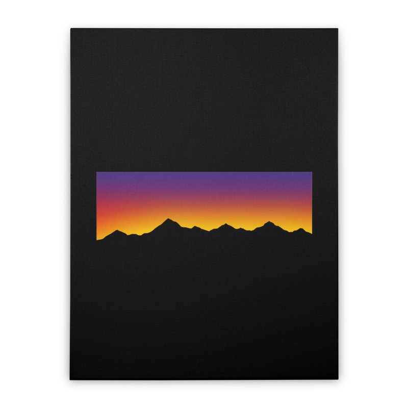 GRADIENT SUNSET Home Stretched Canvas by OVERGLOW 80s shop