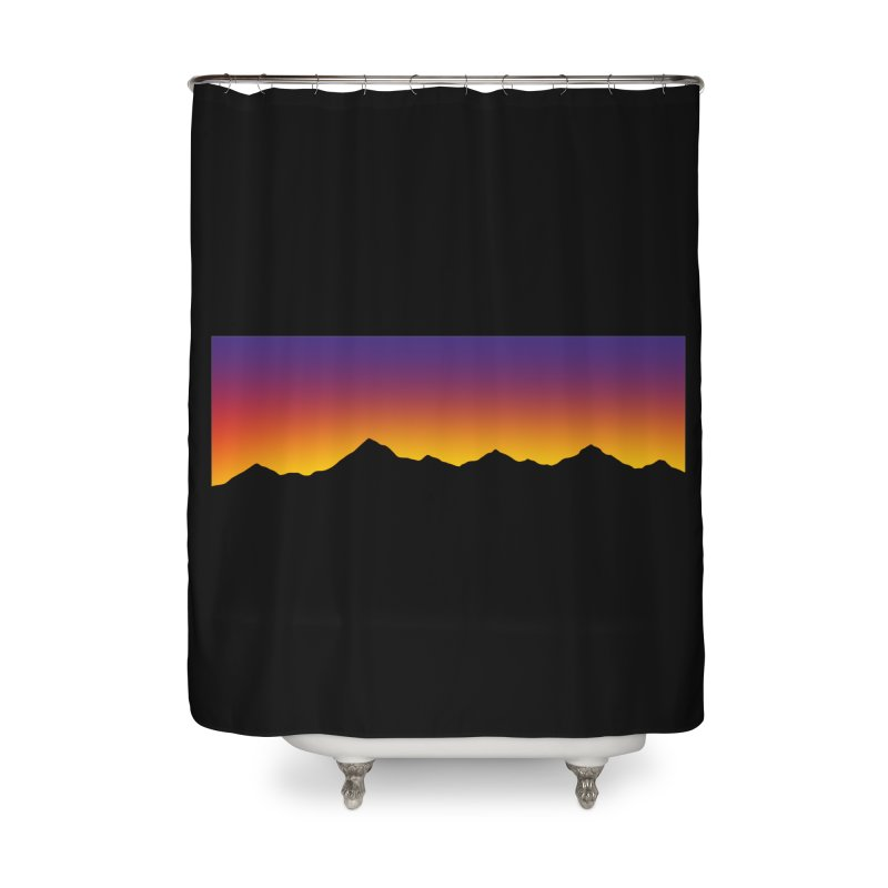 GRADIENT SUNSET Home Shower Curtain by OVERGLOW 80s shop