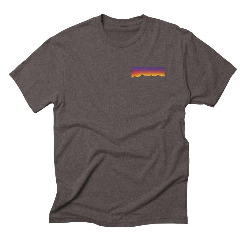 GRADIENT SUNSET Men's Triblend T-Shirt by OVERGLOW 80s shop