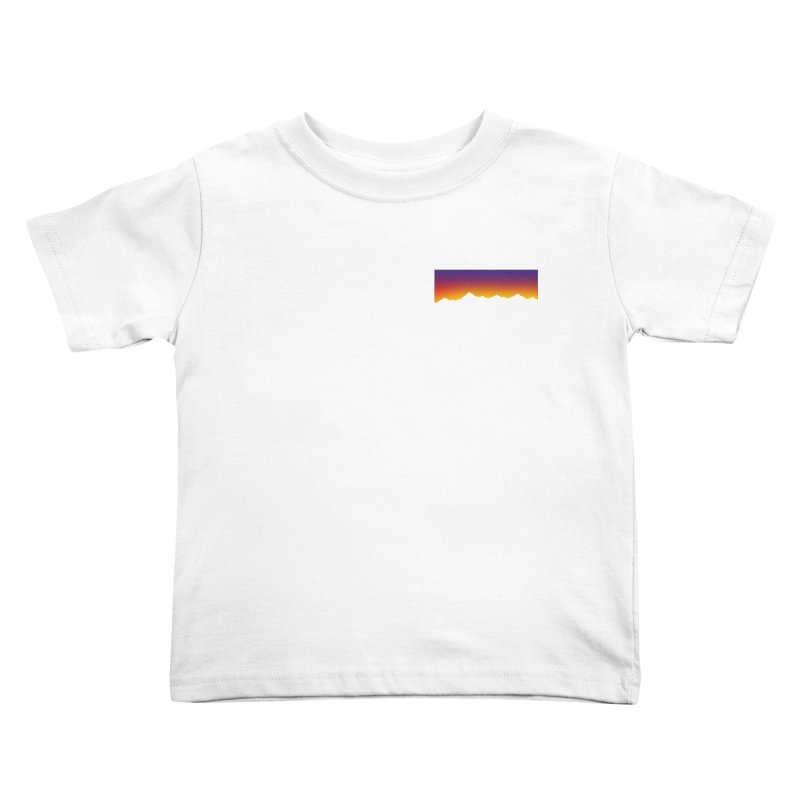 GRADIENT SUNSET Kids Toddler T-Shirt by OVERGLOW 80s shop