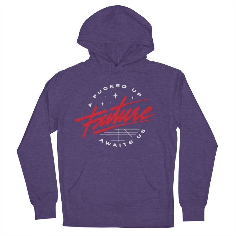 F-UP FUTURE RED Men's French Terry Pullover Hoody by OVERGLOW 80s shop