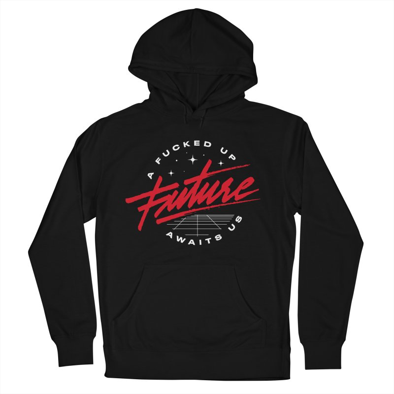 F-UP FUTURE RED Men's Pullover Hoody by OVERGLOW 80s shop
