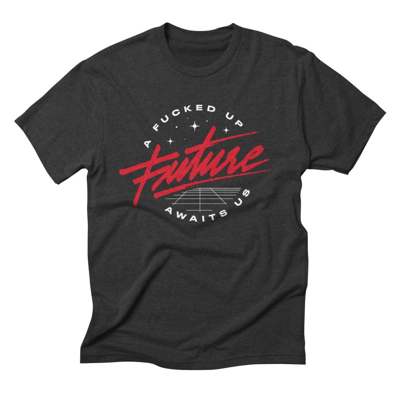 F-UP FUTURE RED Men's Triblend T-Shirt by OVERGLOW 80s shop