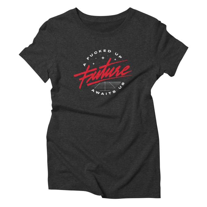 F-UP FUTURE RED Women's Triblend T-Shirt by OVERGLOW 80s shop