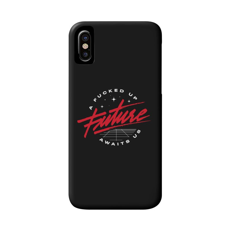 F-UP FUTURE RED Accessories Phone Case by OVERGLOW 80s shop