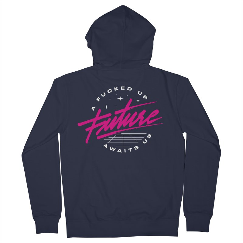 F-UP FUTURE PINK Men's French Terry Zip-Up Hoody by OVERGLOW 80s shop