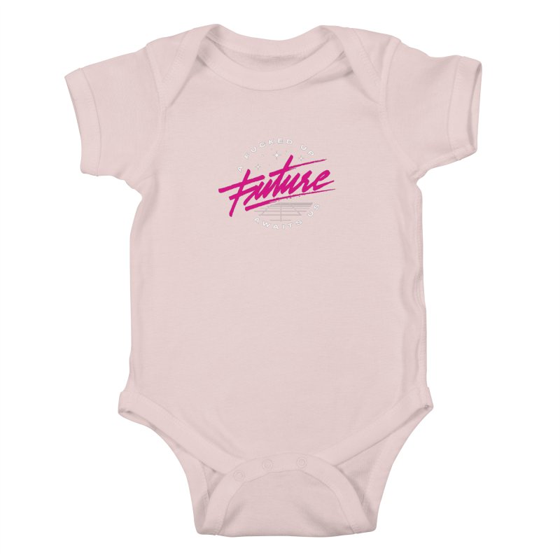 F-UP FUTURE PINK Kids Baby Bodysuit by OVERGLOW 80s shop