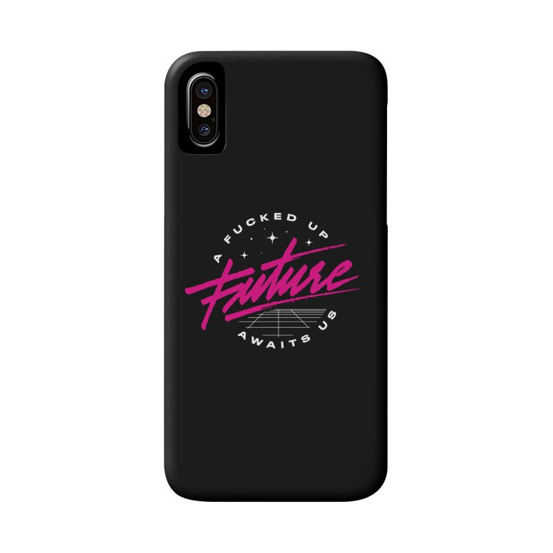 F-UP FUTURE PINK Accessories Phone Case by OVERGLOW 80s shop