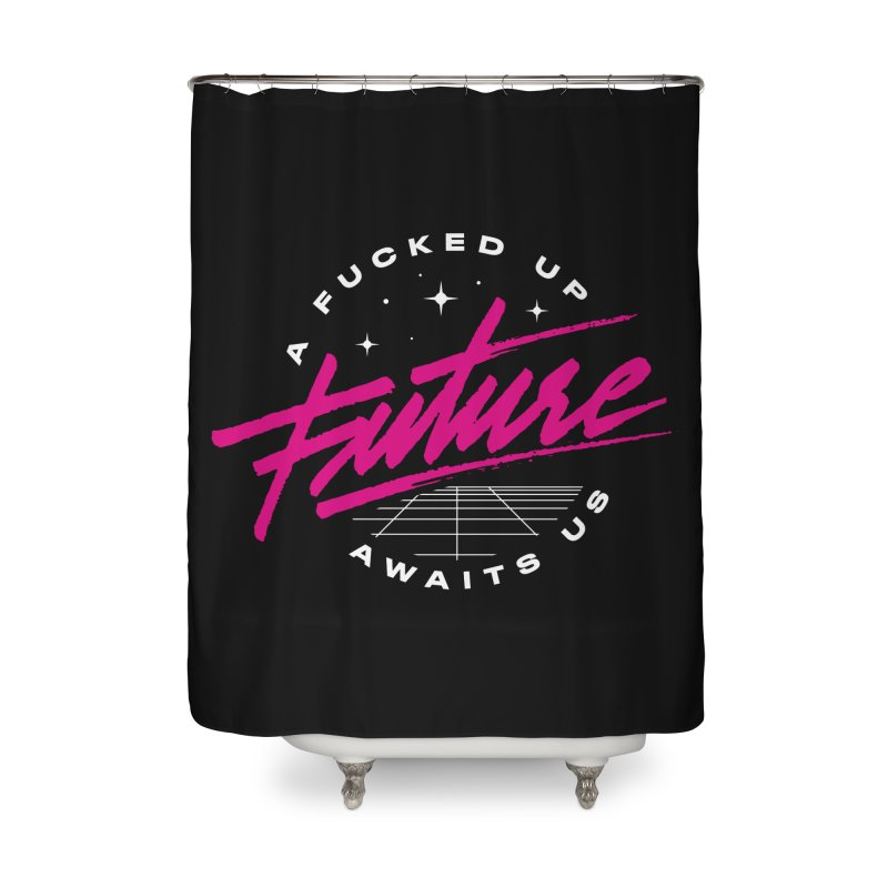 F-UP FUTURE PINK Home Shower Curtain by OVERGLOW 80s shop