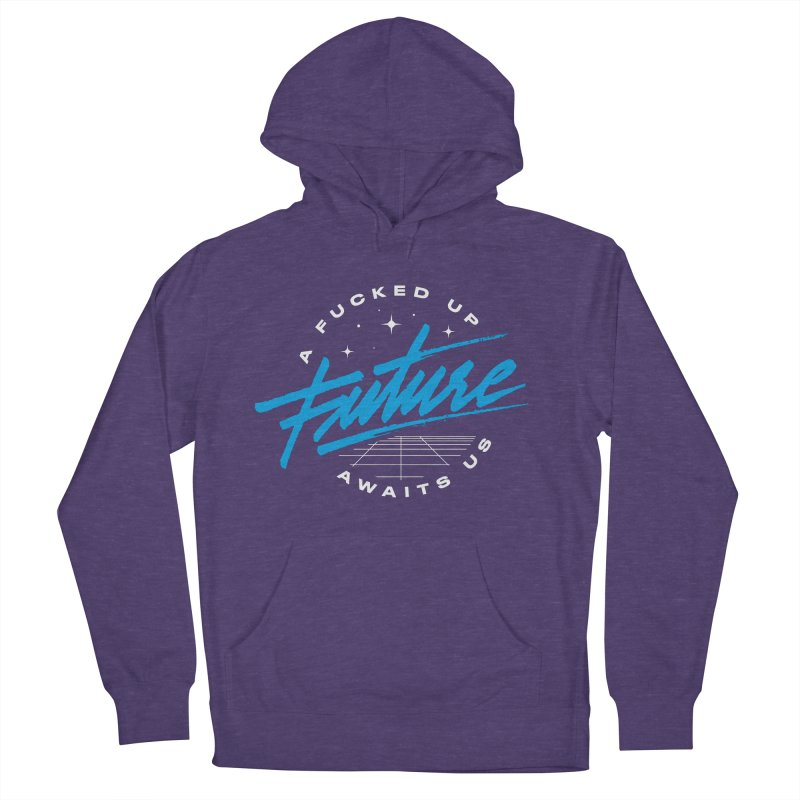 F-UP FUTURE BLUE Men's Pullover Hoody by OVERGLOW 80s shop