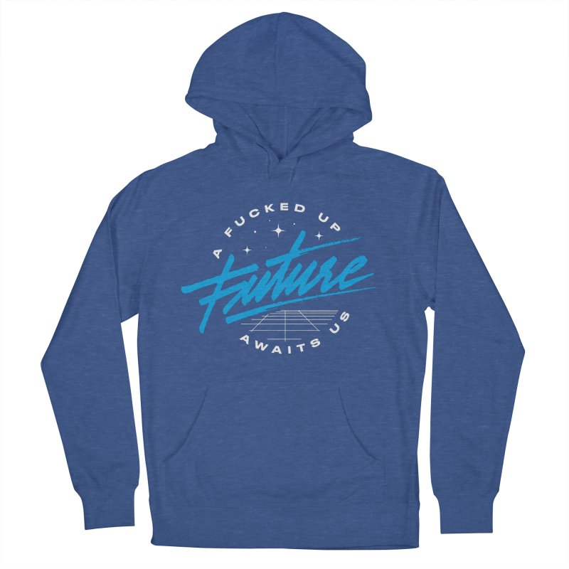 F-UP FUTURE BLUE Men's French Terry Pullover Hoody by OVERGLOW 80s shop