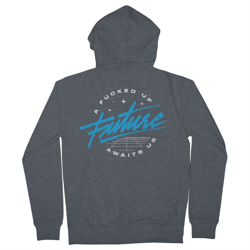 F-UP FUTURE BLUE Men's French Terry Zip-Up Hoody by OVERGLOW 80s shop
