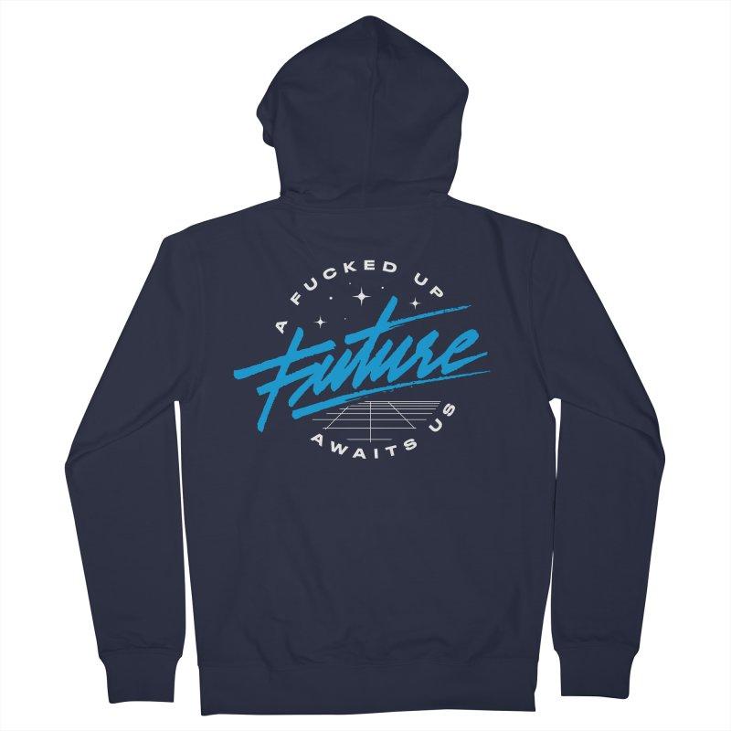 F-UP FUTURE BLUE Men's Zip-Up Hoody by OVERGLOW 80s shop