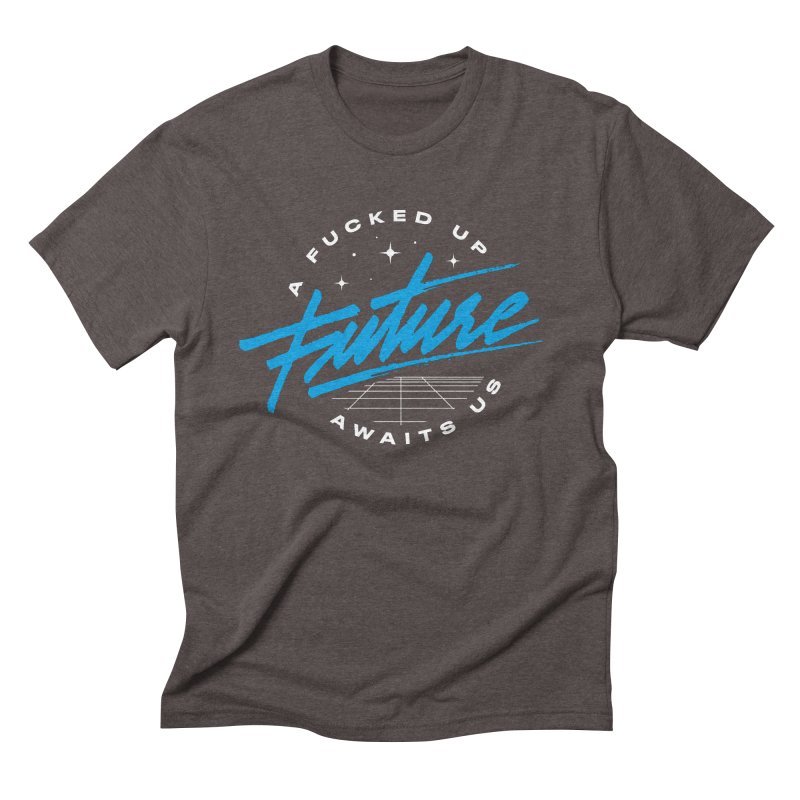 F-UP FUTURE BLUE Men's Triblend T-Shirt by OVERGLOW 80s shop