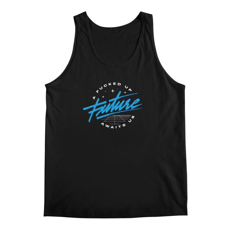 F-UP FUTURE BLUE Men's Regular Tank by OVERGLOW 80s shop