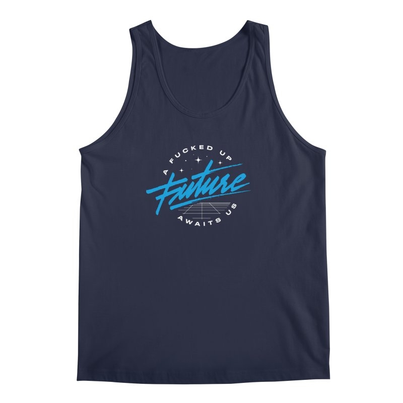 F-UP FUTURE BLUE Men's Regular Tank by OVERGLOW 80s shop