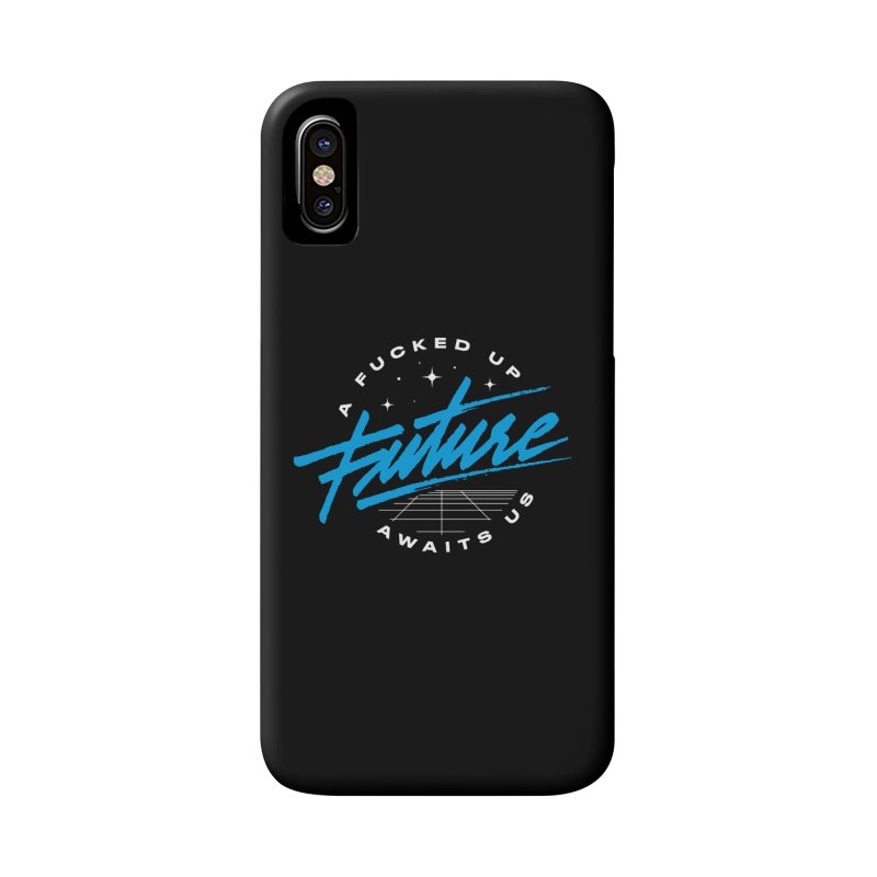 F-UP FUTURE BLUE Accessories Phone Case by OVERGLOW 80s shop
