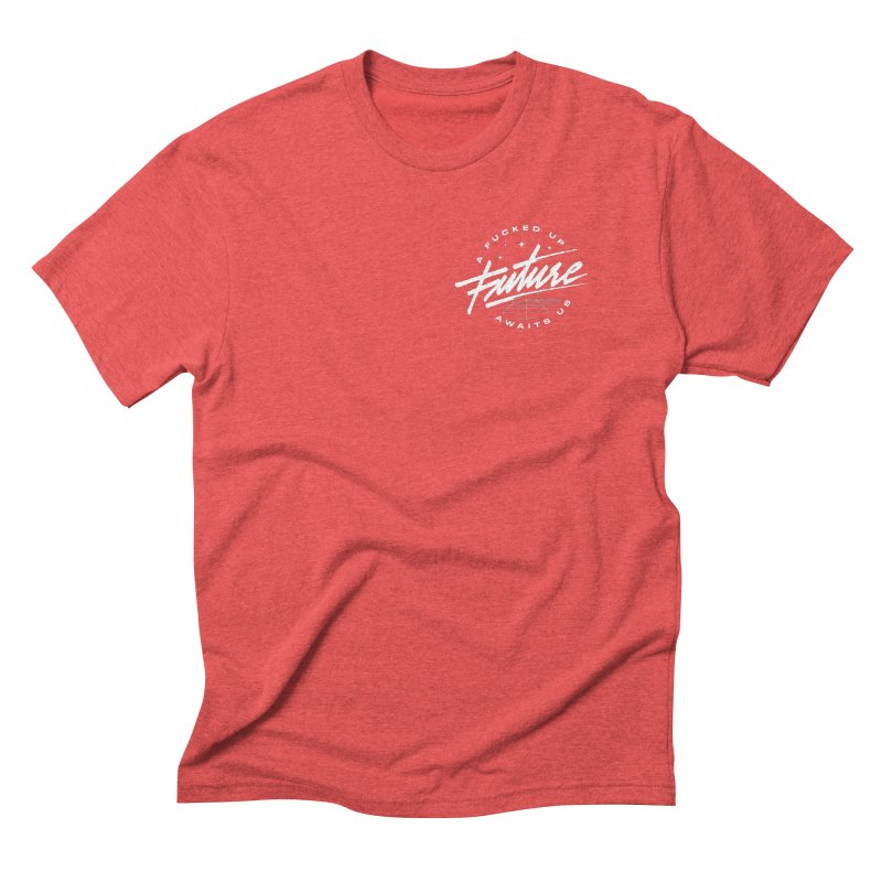 F-U FUTURE WHITE (special) Men's Triblend T-Shirt by OVERGLOW 80s shop