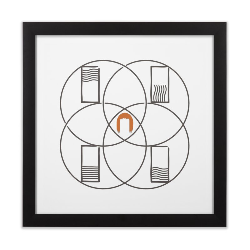Earth, Wind, Fire, Water, and Leeloo Home Framed Fine Art Print by OR designs