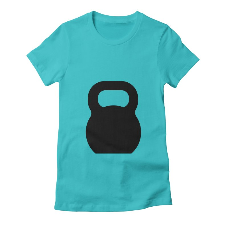 Kettlebell Women's Fitted T-Shirt by OR designs