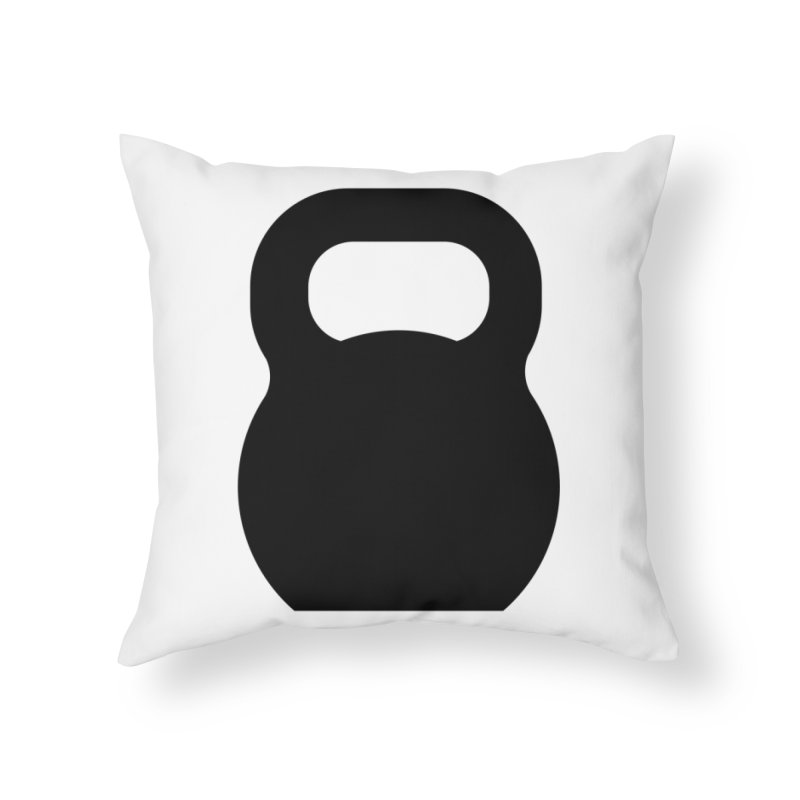 Kettlebell Home Throw Pillow by OR designs