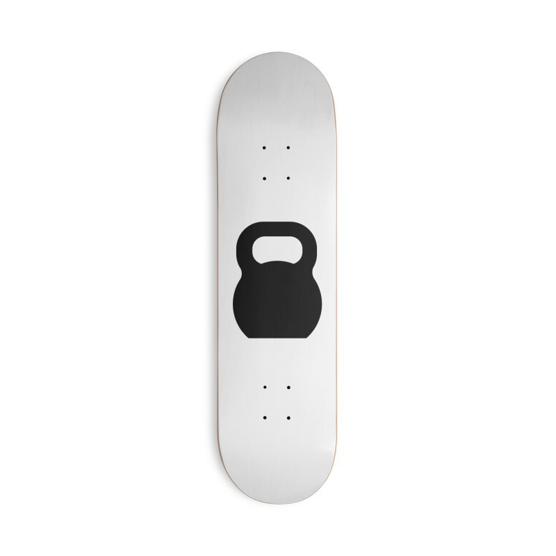 Kettlebell Accessories Deck Only Skateboard by OR designs