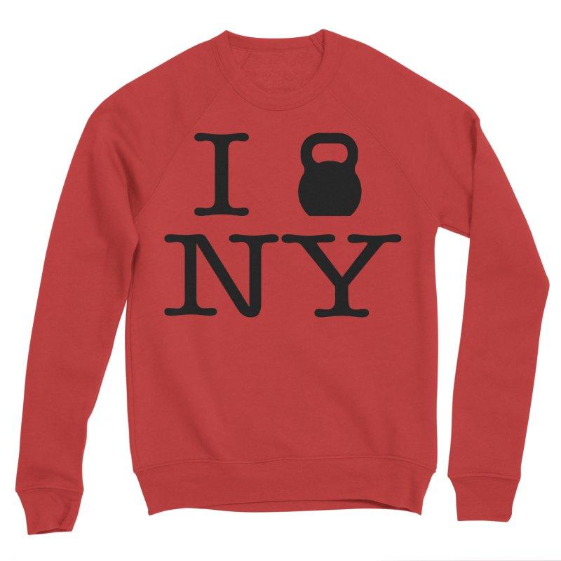 I Kettlebell NY Women's Sponge Fleece Sweatshirt by OR designs