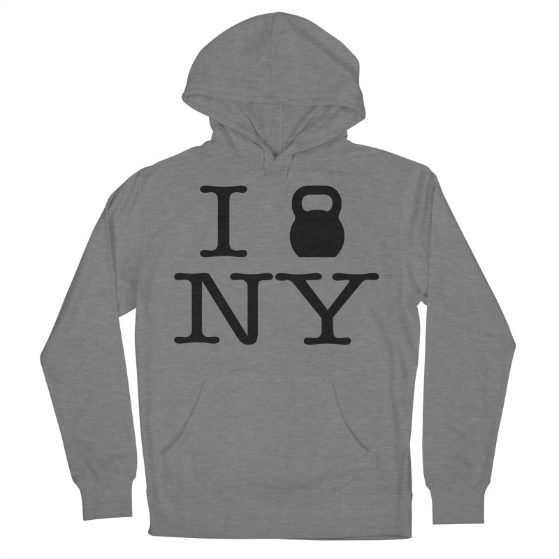I Kettlebell NY Women's French Terry Pullover Hoody by OR designs