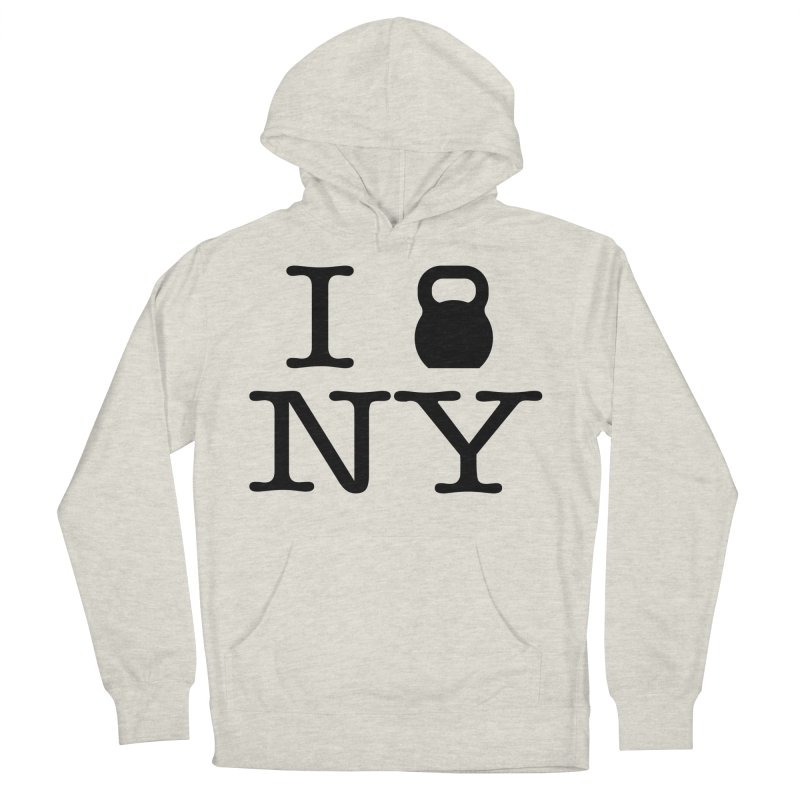 I Kettlebell NY Men's French Terry Pullover Hoody by OR designs