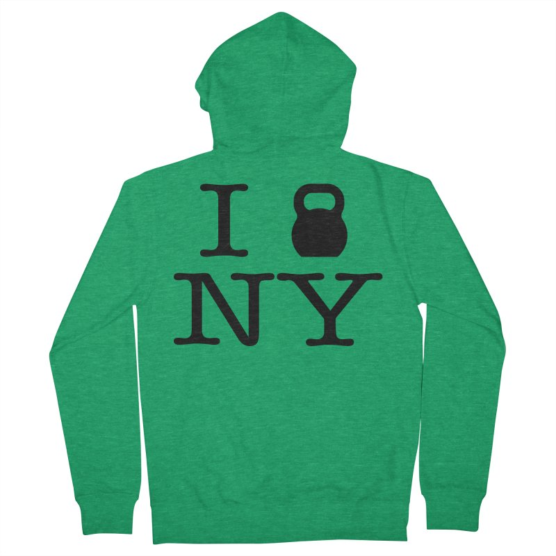 I Kettlebell NY Women's Zip-Up Hoody by OR designs
