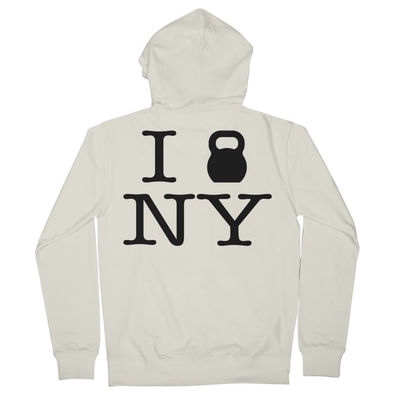 I Kettlebell NY Women's French Terry Zip-Up Hoody by OR designs