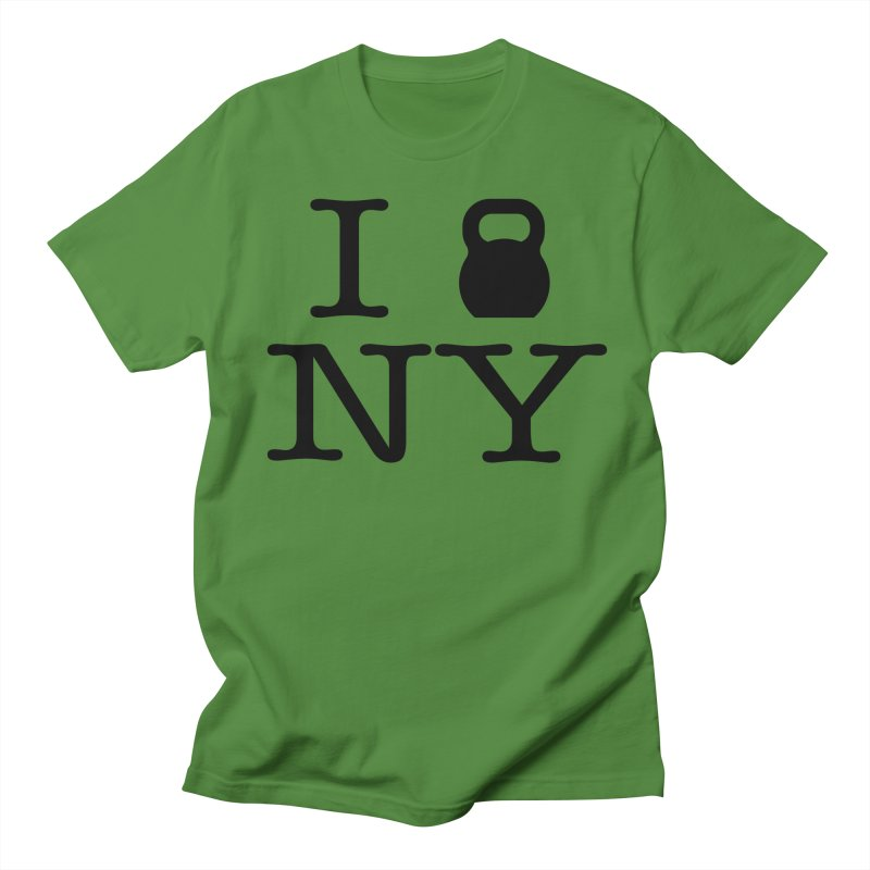 I Kettlebell NY Men's Regular T-Shirt by OR designs