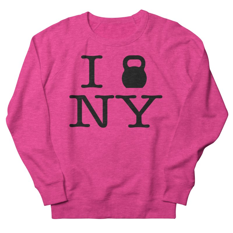 I Kettlebell NY Women's French Terry Sweatshirt by OR designs