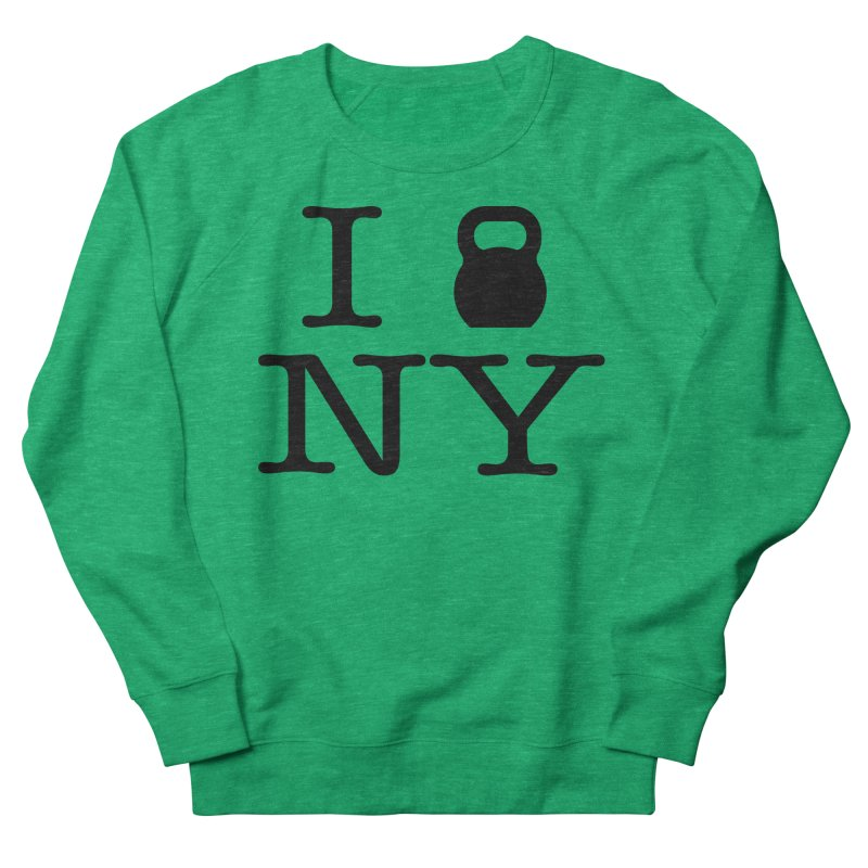 I Kettlebell NY Men's French Terry Sweatshirt by OR designs