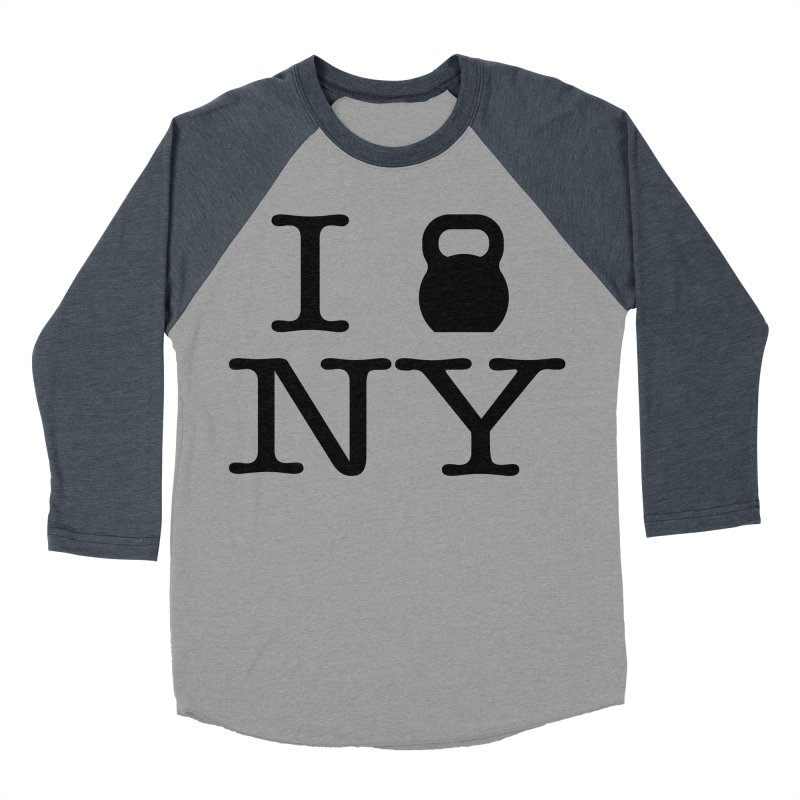 I Kettlebell NY Women's Baseball Triblend Longsleeve T-Shirt by OR designs
