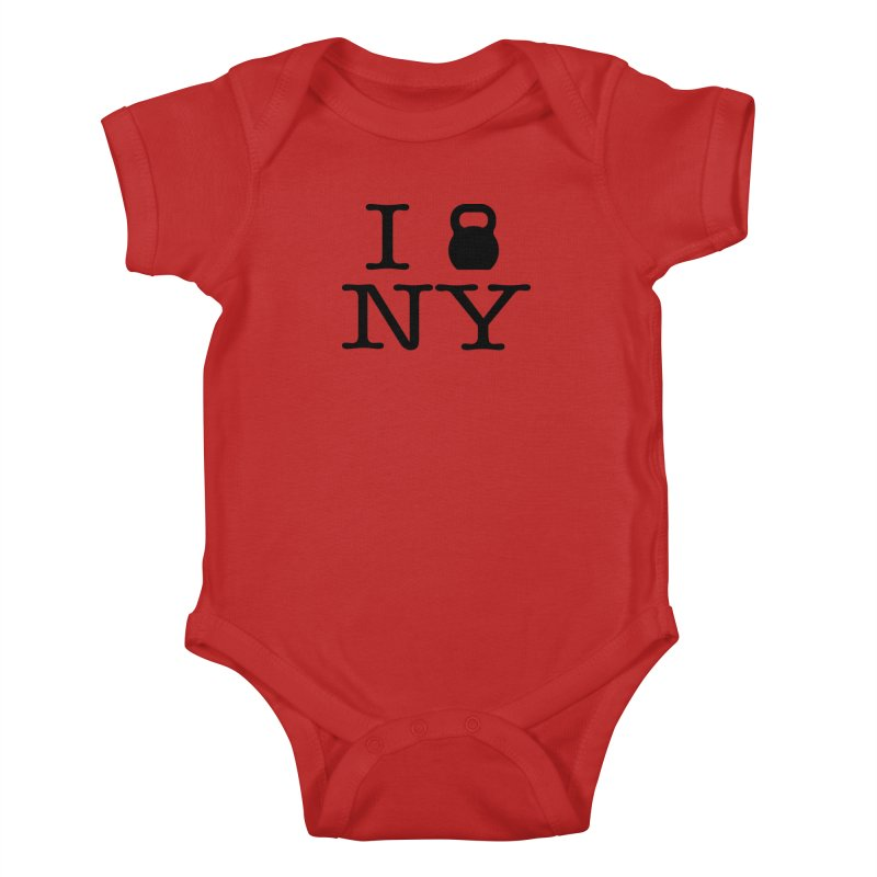 I Kettlebell NY Kids Baby Bodysuit by OR designs