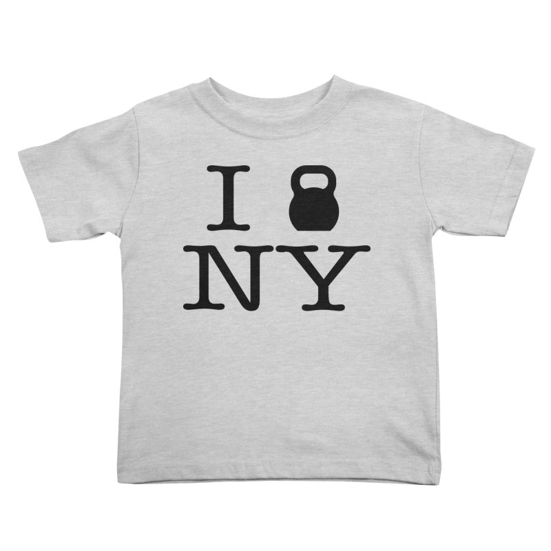 I Kettlebell NY Kids Toddler T-Shirt by OR designs