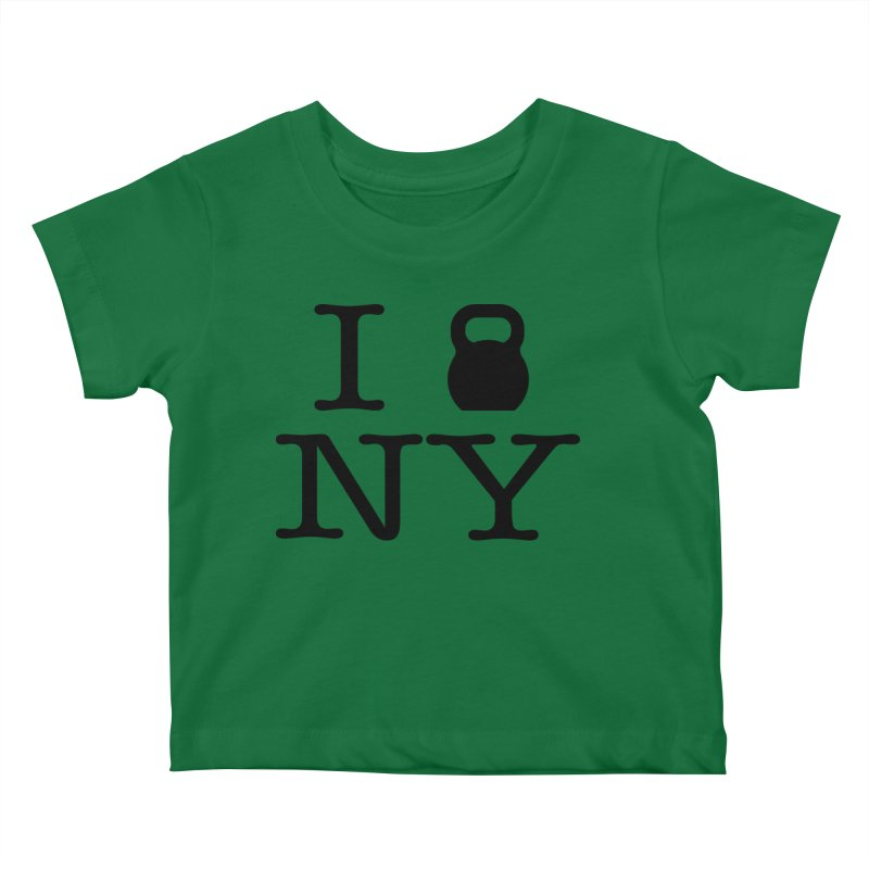 I Kettlebell NY Kids Baby T-Shirt by OR designs