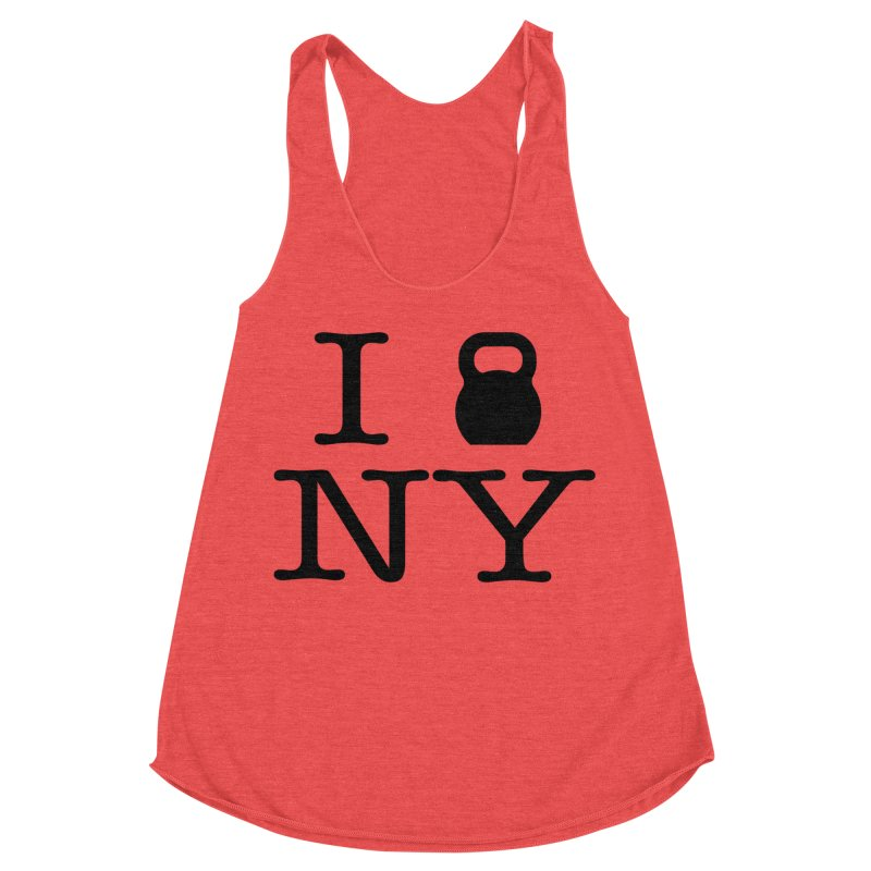 I Kettlebell NY Women's Racerback Triblend Tank by OR designs